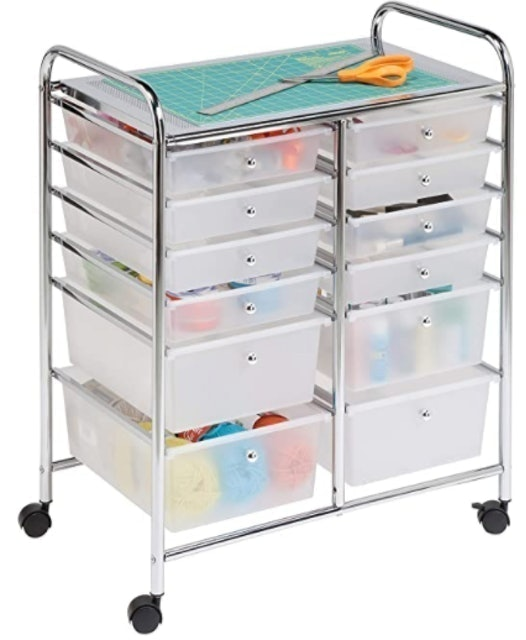 Honey-Can-Do Rolling Storage Cart and Organizer 1