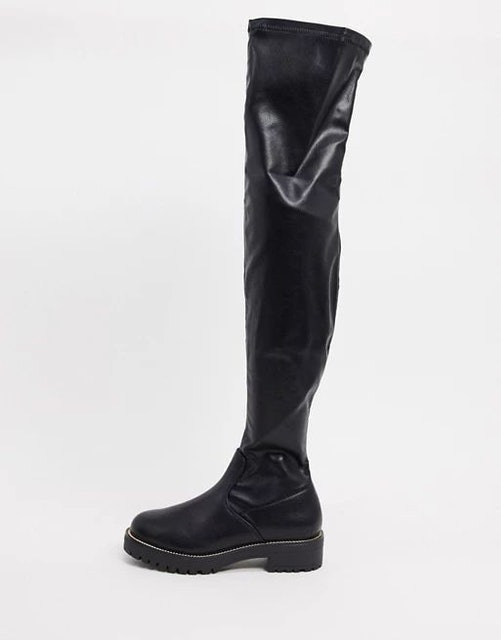 ASOS Design Kate Flat Over the Knee Boots 1