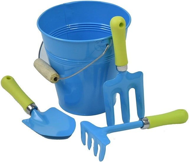 G & F Products  JustForKids Kids Water Pail With Garden Tools Set 1