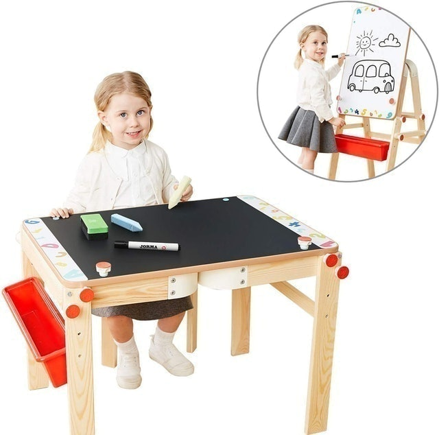 Top Bright Wooden Art Easel for Kids 1