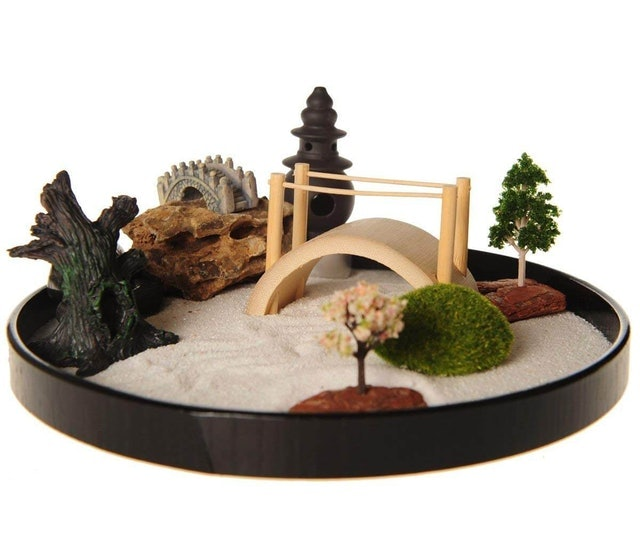 ICNBUYS Zen Garden with Boat Bridge 1