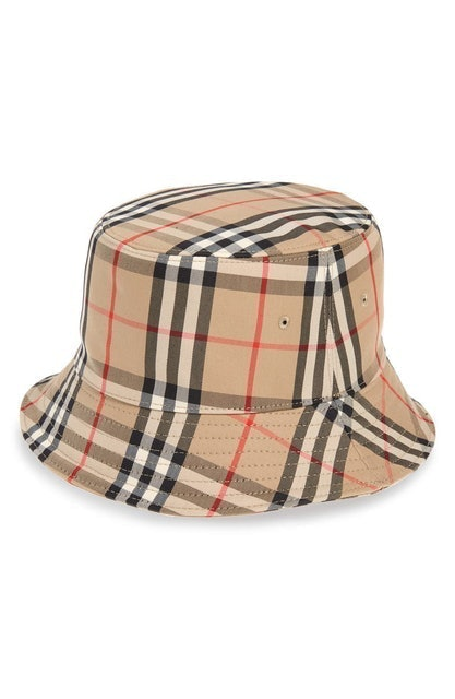 Burberry Heavy Check Bucket Hat 1