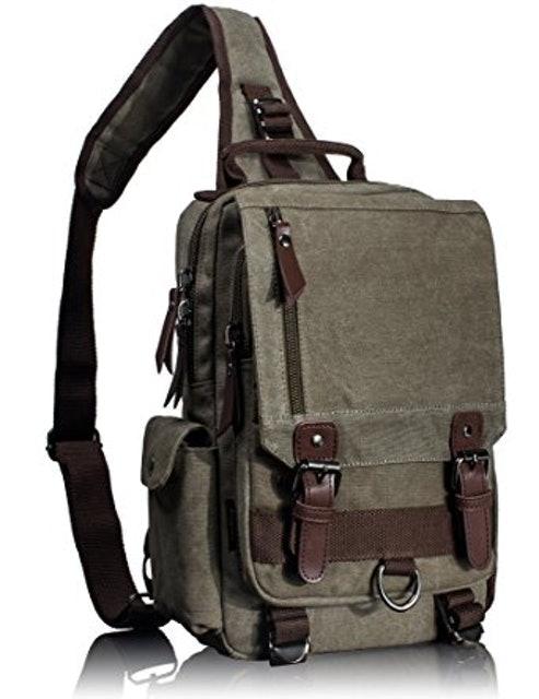 Leaper Canvas Messenger Sling Bag 1