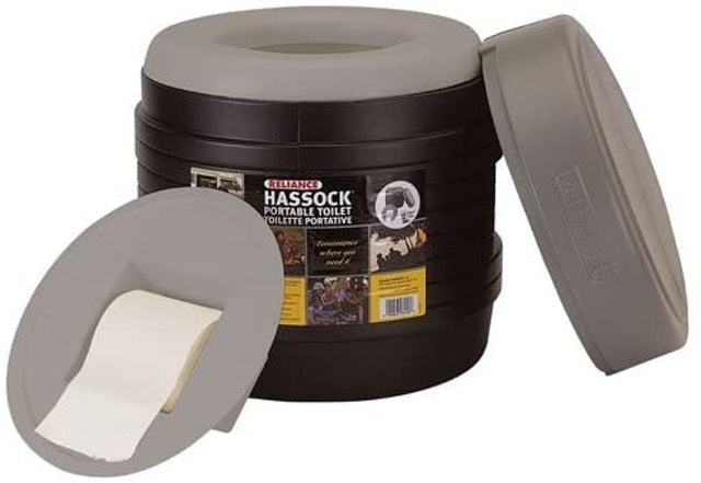 Reliance Products Hassock Portable Lightweight Self-Contained Toilet 1