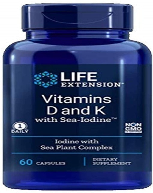 Life Extension Vitamins D and K with Sea-Iodine 1
