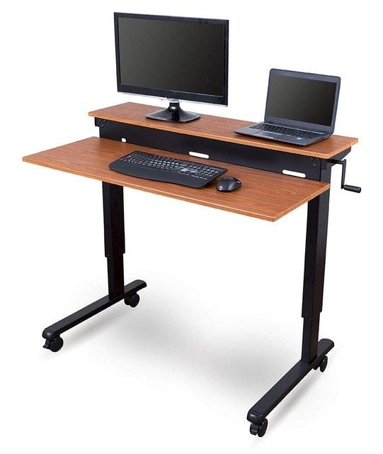 Stand Up Desk Store Crank Adjustable Computer Desk 1