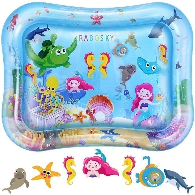 Rabosky Tummy Time Baby Water Mat 1