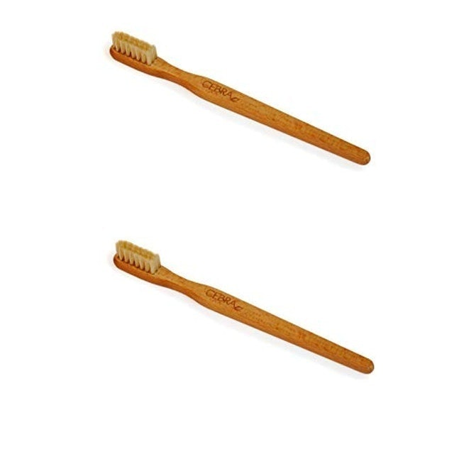 Cebra ethical skincare Wooden Toothbrushes with Natural Hog Hair Bristles 1