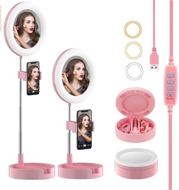 Couture Selfie Ring Light With Mirror 1