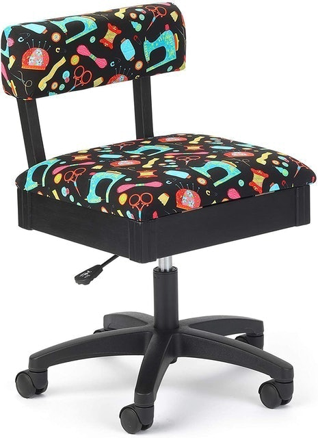 Rolling Chairs Arrow Sewing and Craft Chair With Storage 1