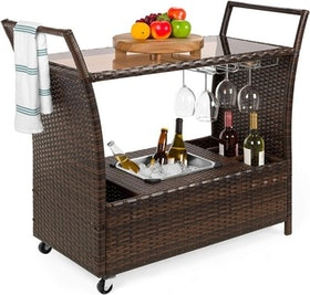 Top 10 Best Rolling Bar Carts in 2020 (Gracie Oaks, Christopher Knight Home, and More) 2