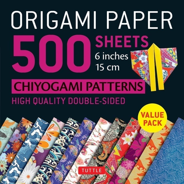 Tuttle Publishing Origami Paper 500 Sheets Chiyogami Patterns  1
