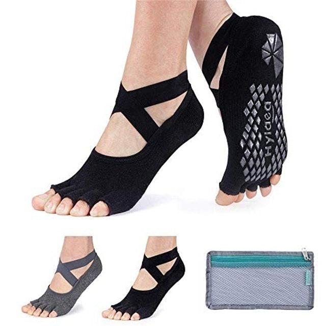 Hylaea Women's Half Toe Grip Socks 1