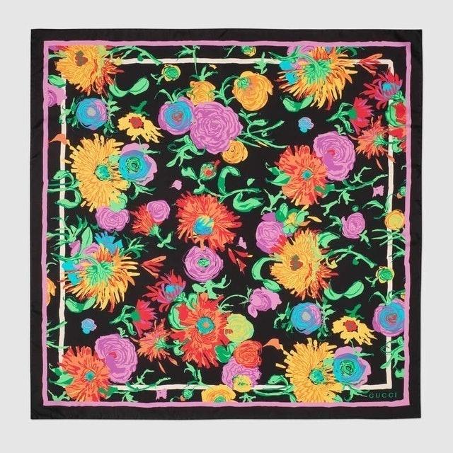 Gucci Ken Scott Print Silk Scarf 1