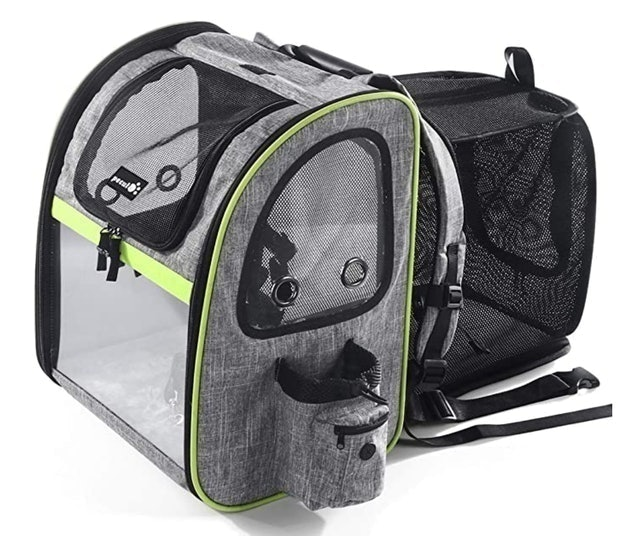 Pecute Expandable Pet Carrier Backpack 1
