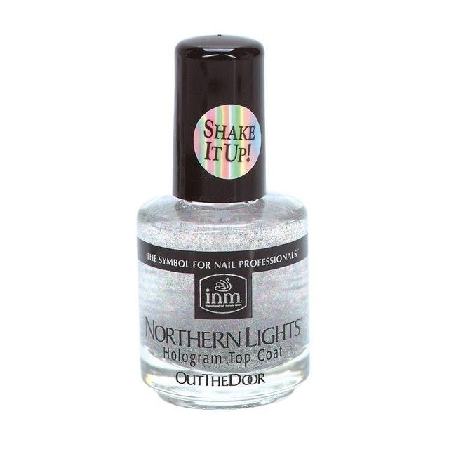 INM Northern Lights Silver Hologram Top Coat 1