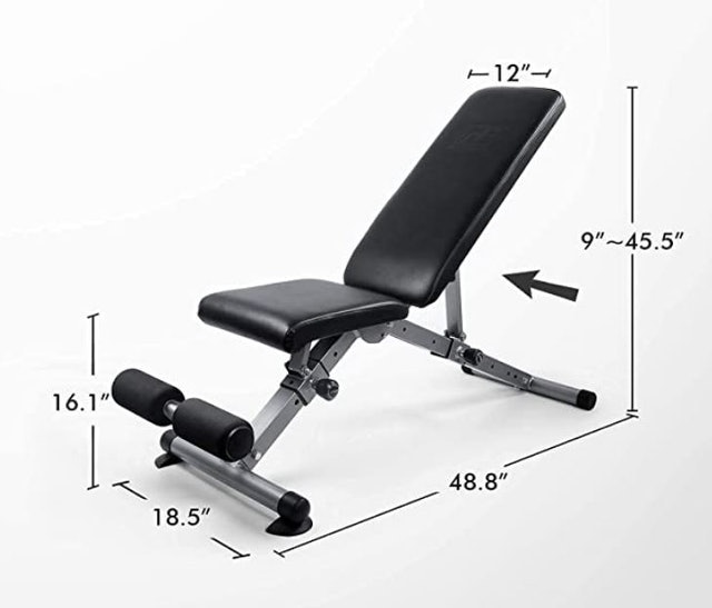 RitFit Foldable Utility Weight Bench 1