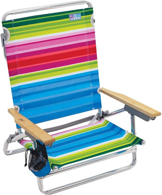 RIO Gear 5-Position Lay Flat Folding Beach Chair 1