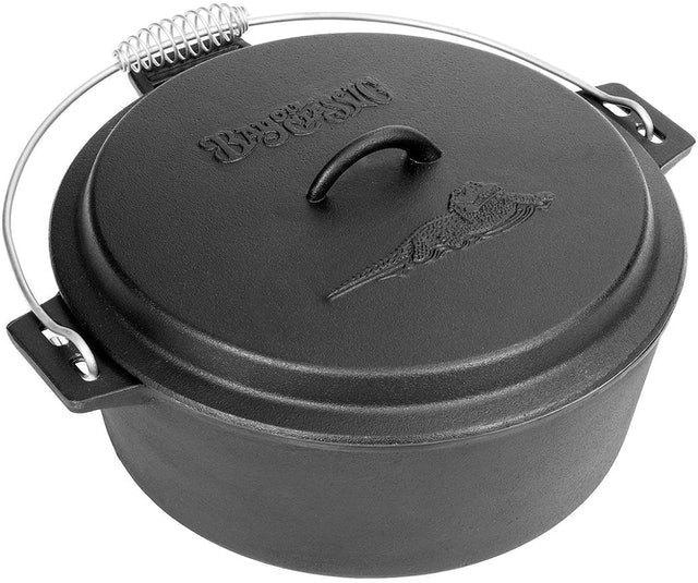Bayou Classic  Cast Iron Chicken Fryer With Dutch Oven Lid 1