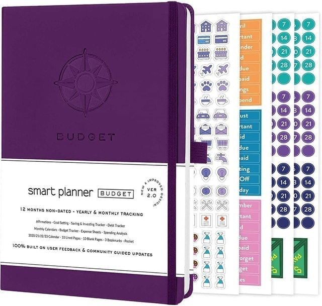 Smart Planner Budget Planner Organizer With Calendars 1