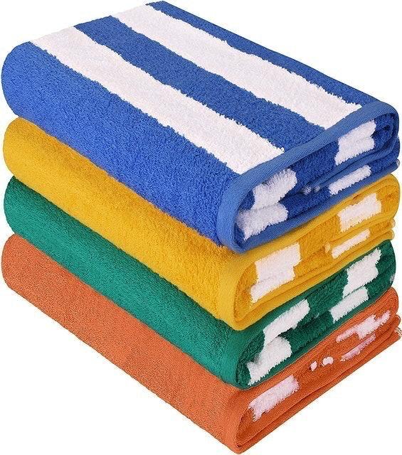 Utopia Towels Cabana Stripe Beach Towel Set 1
