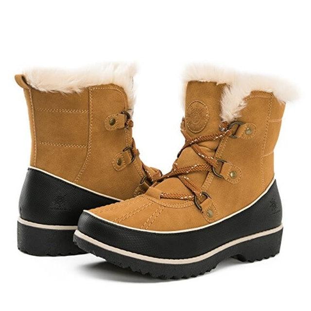GLOBALWIN Women's Fur Trek Winter Boots 1