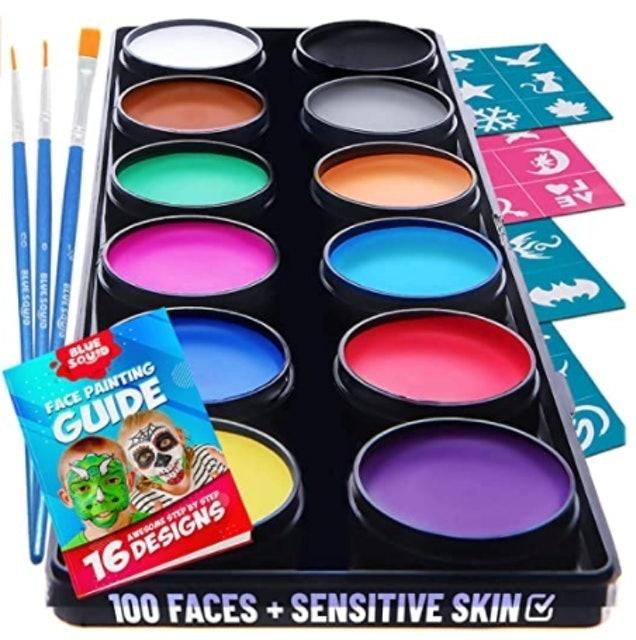 Blue Squid Face Paint Kit for Kids 1