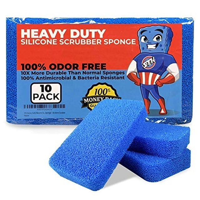 STK Heavy Duty Silicone Scrubber Sponges 1