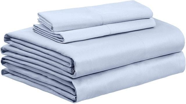 AmazonBasics Organic Sateen Cotton Sheet Set 1