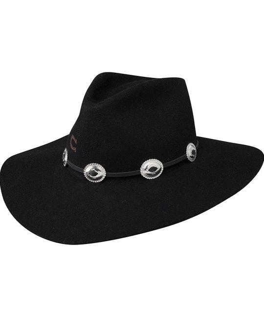 Charlie 1 Horse Women's Traveler Concho Black Hat 1