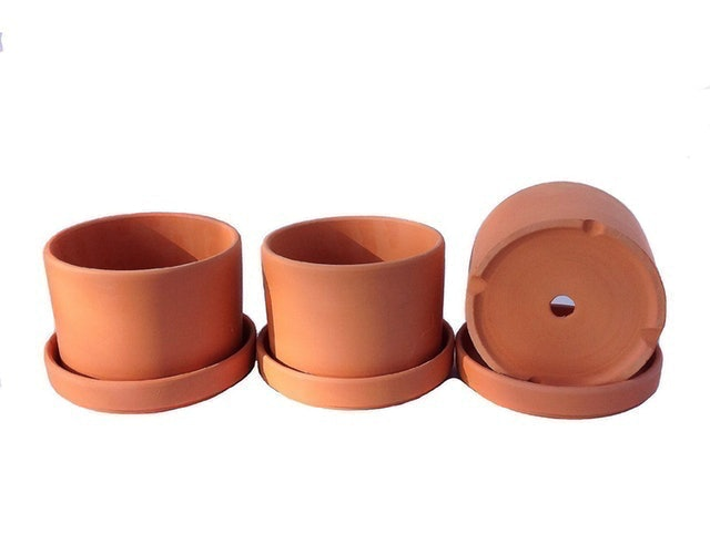 Goodman and Wife Natural Terra Cotta Planters 1