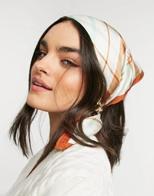 ASOS Polysatin Medium Headscarf  1