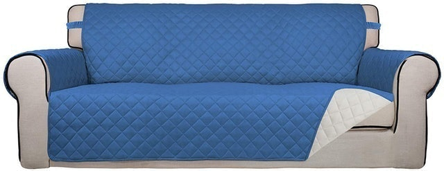 PureFit Water Resistant, Reversible, Quilted Sofa Cover 1