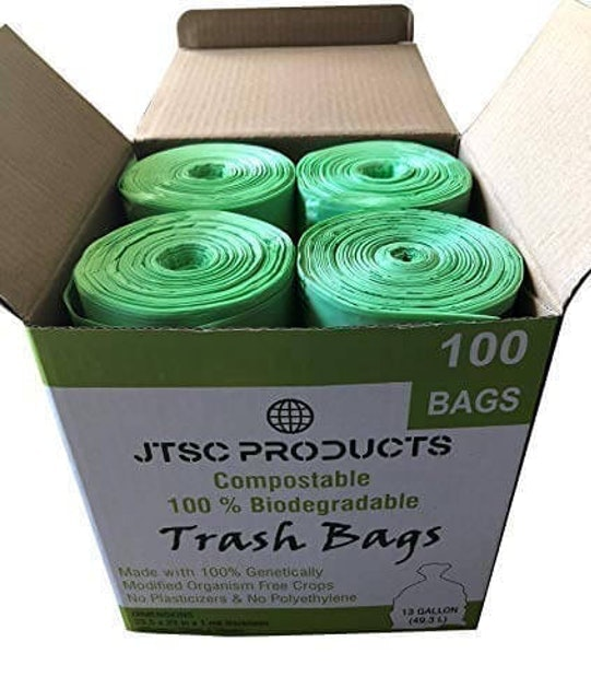 JTSC Products  Compostable 100% Biodegradable Trash Bags 1
