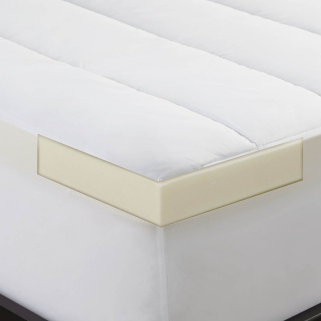 Sleep Innovations Memory Foam Topper and Waterproof Mattress Protector 1