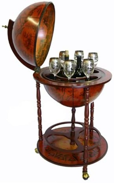 Rolling Bar Carts eHome Products Sixteenth-Century Italian Replica Globe Bar 1