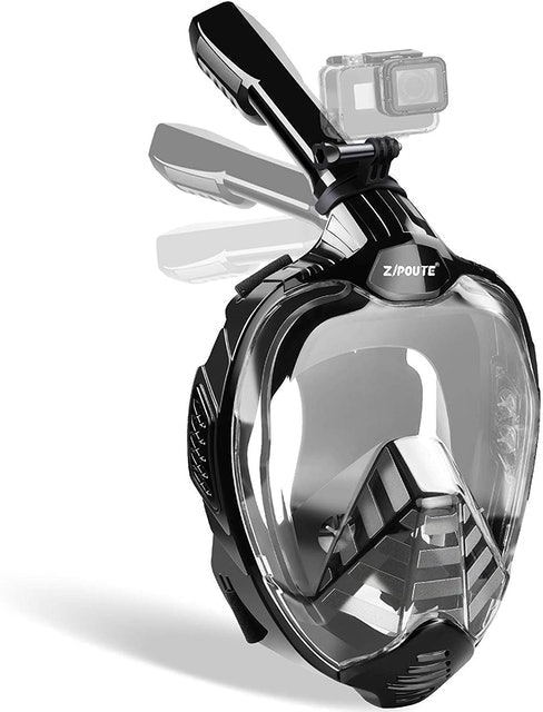 Zipoute Snorkel Mask With Detachable Camera Mount 1