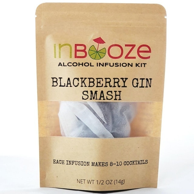 Stocking Stuffers InBooze Blackberry Gin Smash Cocktail Kit 1