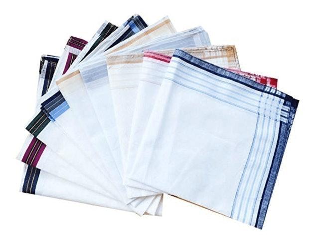 CoCoUSM Striped Border Cotton Handkerchiefs 1