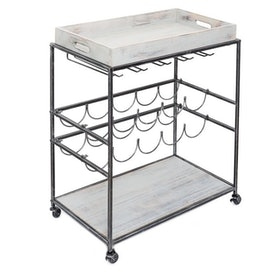 Top 10 Best Rolling Bar Carts in 2021 (Gracie Oaks, Christopher Knight Home, and More) 1