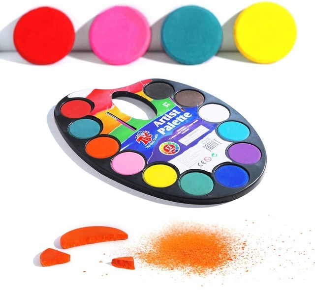 TBC The Best Crafts Artist Paint Palette With Paint Brush 1