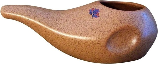 Sattvic Path Ergonomically Designed Handmade Neti Pot 1