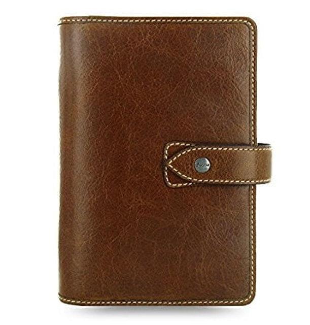 Filofax Malden Ochre Personal Size Leather Organizer 1