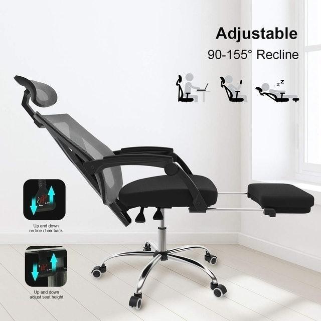 Hbada Ergonomic Office Recliner Chair with Footrest 1
