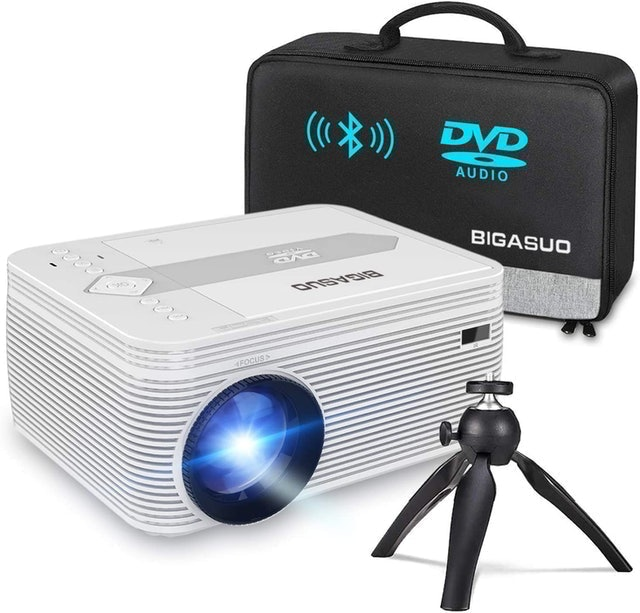 Bigasou  Projector With Built-in DVD Player 1