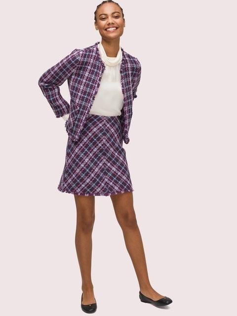Kate Spade Plaid Tweed Skirt 1