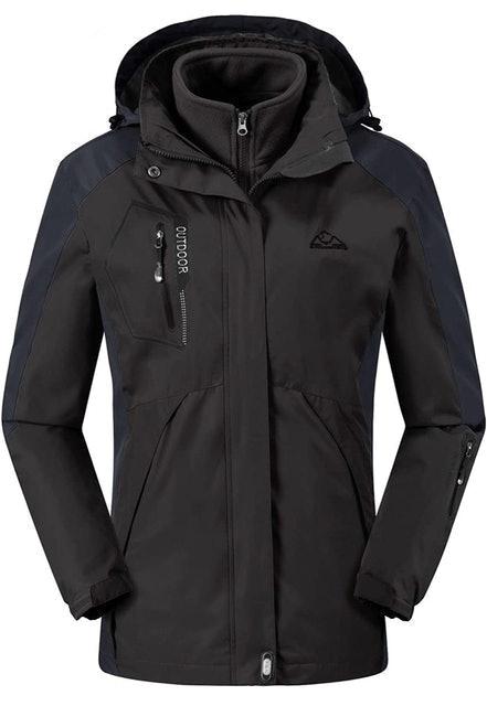 Rdruko Women's Outdoor 3-in-1 Waterproof Ski Jacket 1