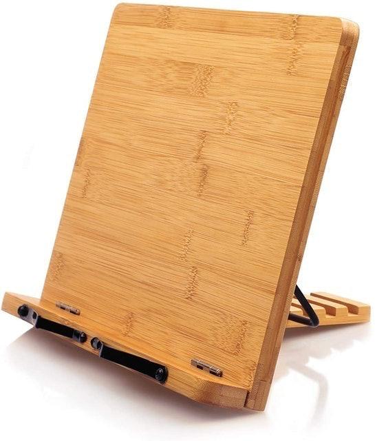 Pipishell Bamboo Cookbook Holder 1