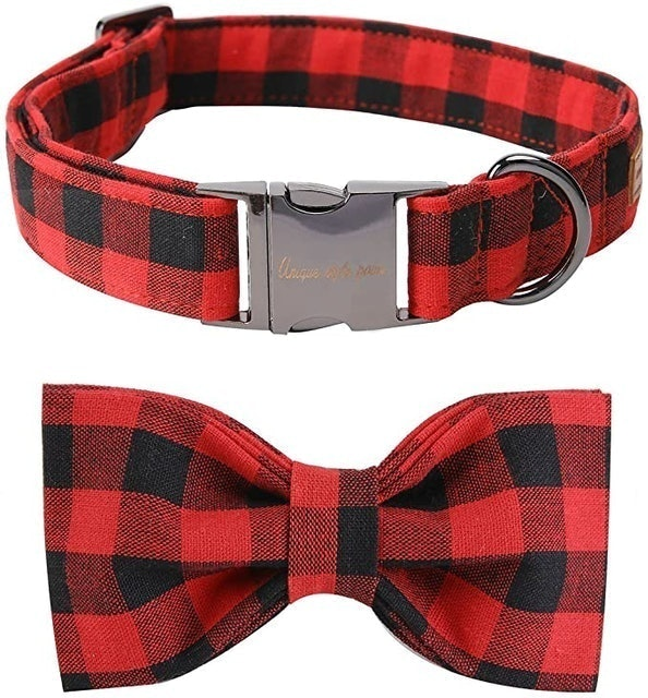 Gifts for Dog Lovers Unique Style Paws Bowtie Dog Collar 1