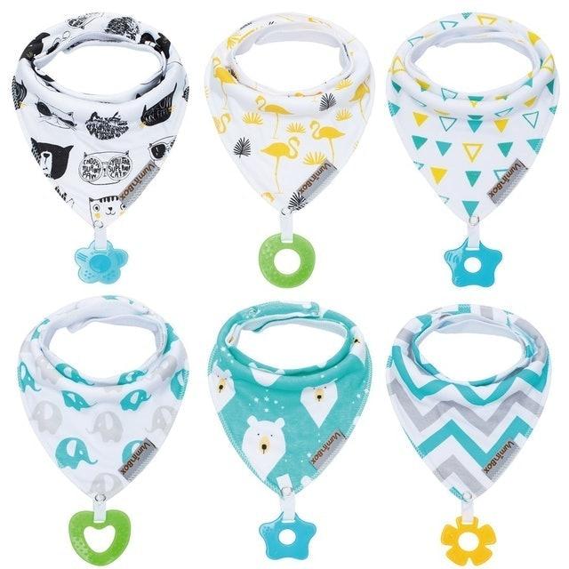 Vuminbox Baby Bandana Drool Bibs with Teething Toys 1